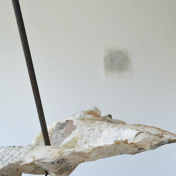 Tiziana Abretti, Tracce - il forno, contemporary sculpture, arte contemporanea, ferro, calce, handmade paper