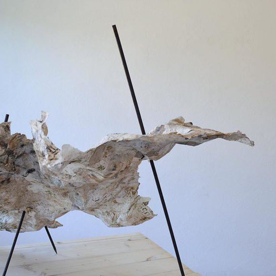 Tiziana Abretti, Tracce - il forno, contemporary sculpture, arte contemporanea, calce, handmade paper
